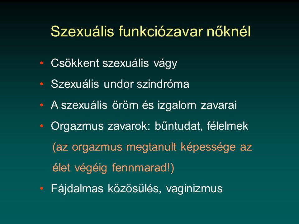 Szexuális funkciózavar nőknél