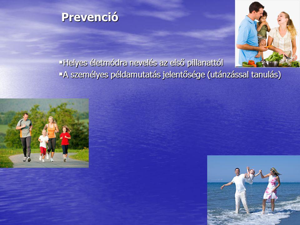 Prevenció Helyes életmódra nevelés az első pillanattól