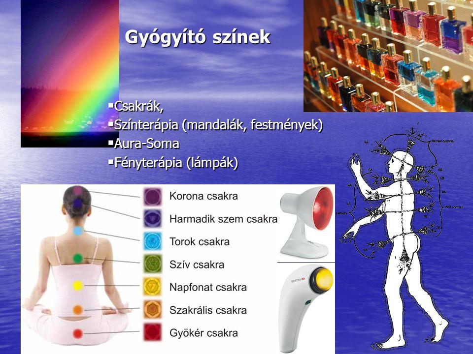 Gyógyító színek Csakrák, Színterápia (mandalák, festmények) Aura-Soma