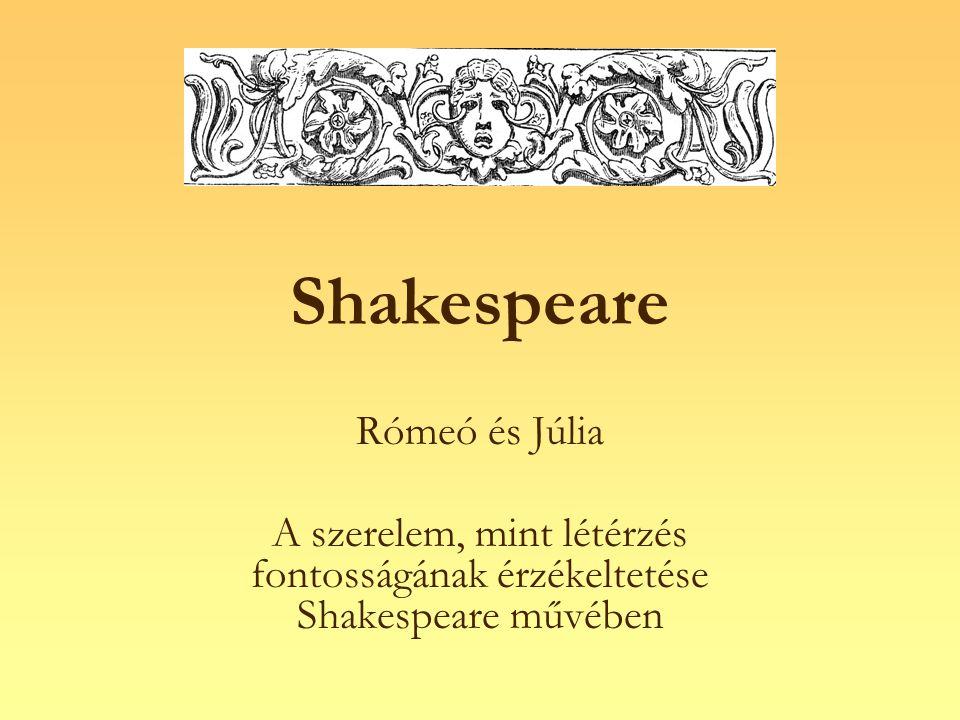 Shakespeare Rómeó és Júlia