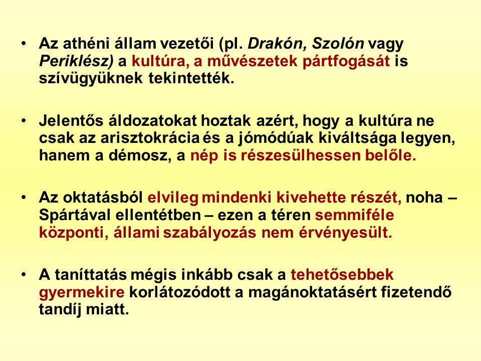 Az athéni állam vezetői (pl