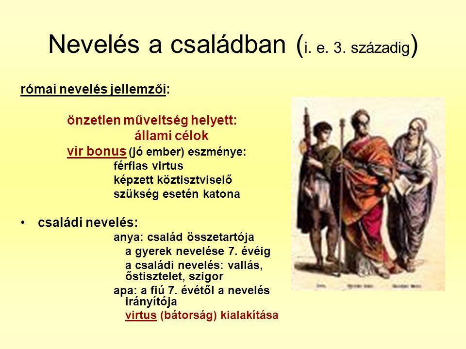 Nevelés a családban (i. e. 3. századig)