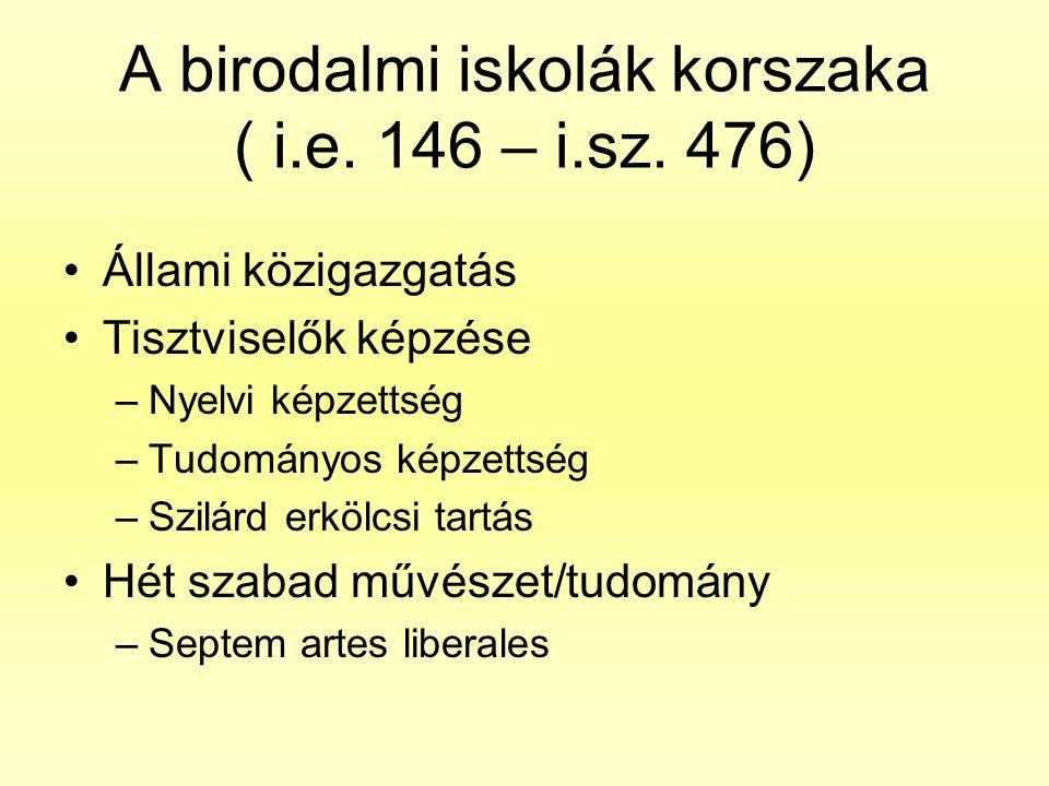 A birodalmi iskolák korszaka ( i.e. 146 – i.sz. 476)