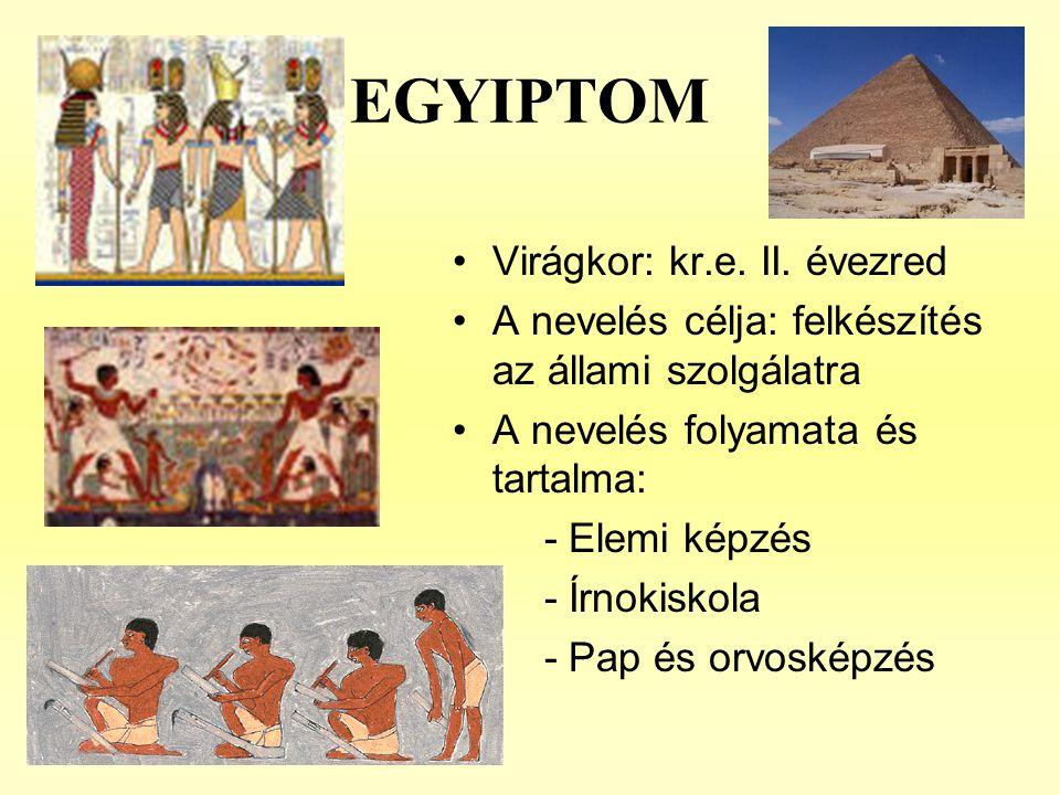 EGYIPTOM Virágkor: kr.e. II. évezred