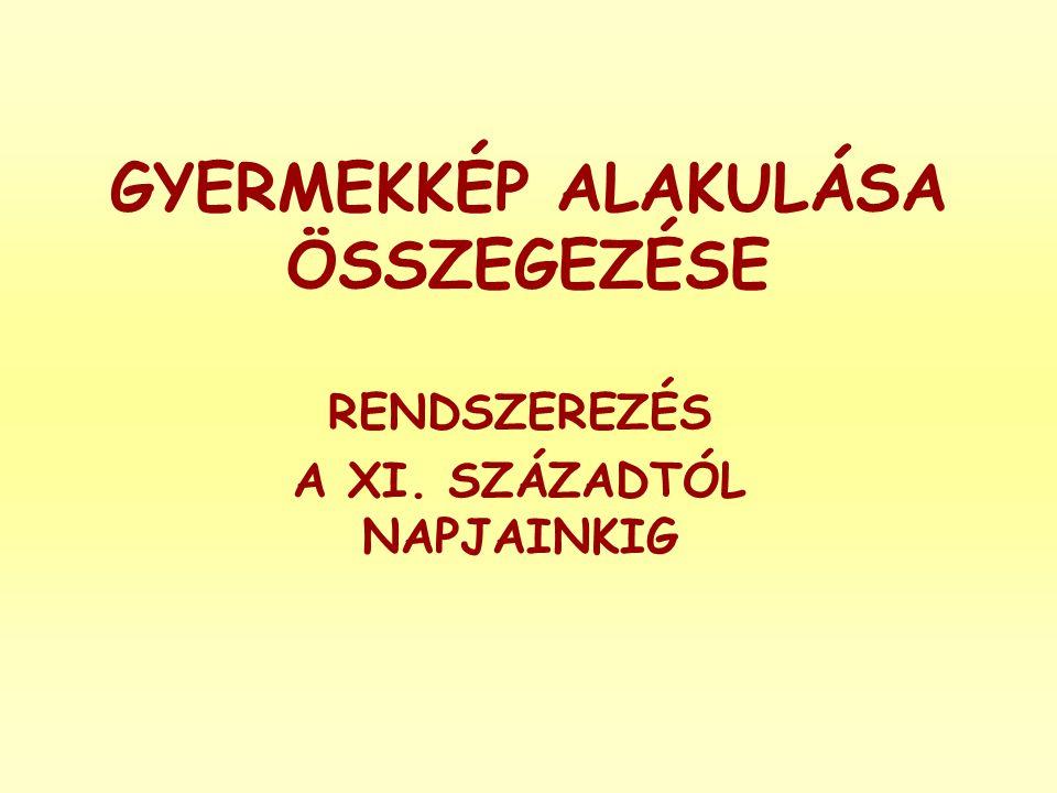 GYERMEKKÉP ALAKULÁSA ÖSSZEGEZÉSE