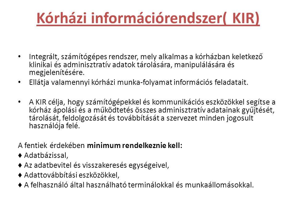 Kórházi információrendszer( KIR)