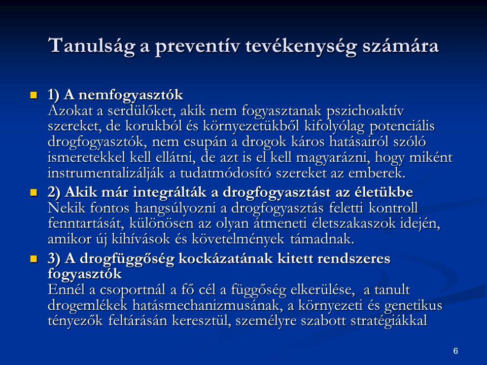 Tanulság a preventív tevékenység számára