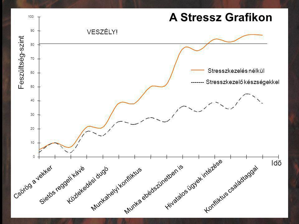 A Stressz Grafikon Feszültség-szint Idő VESZÉLY!