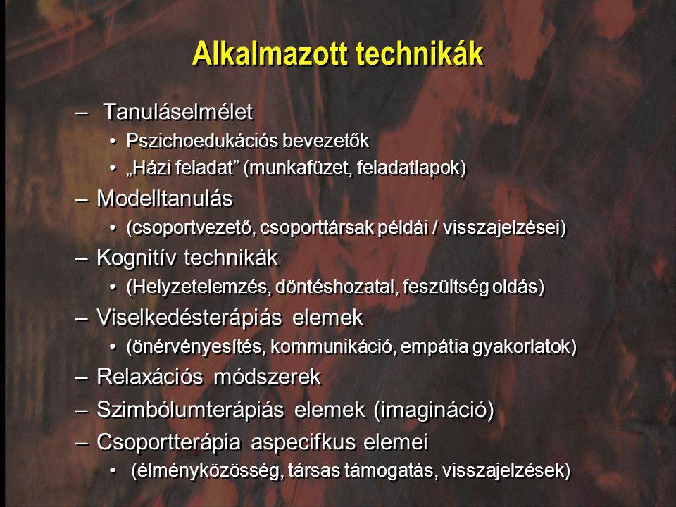 Alkalmazott technikák