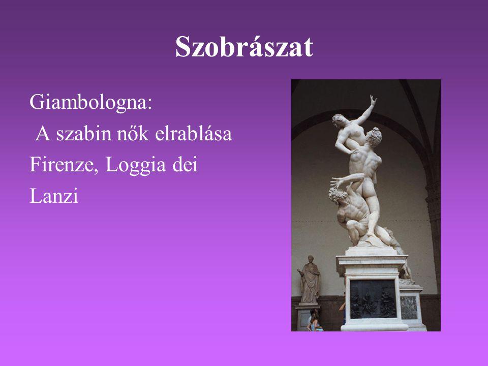 Szobrászat Giambologna: A szabin nők elrablása Firenze, Loggia dei