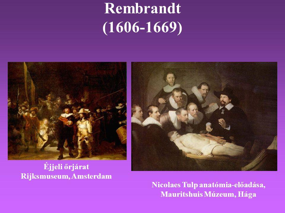 Rembrandt (1606-1669) Éjjeli őrjárat Rijksmuseum, Amsterdam