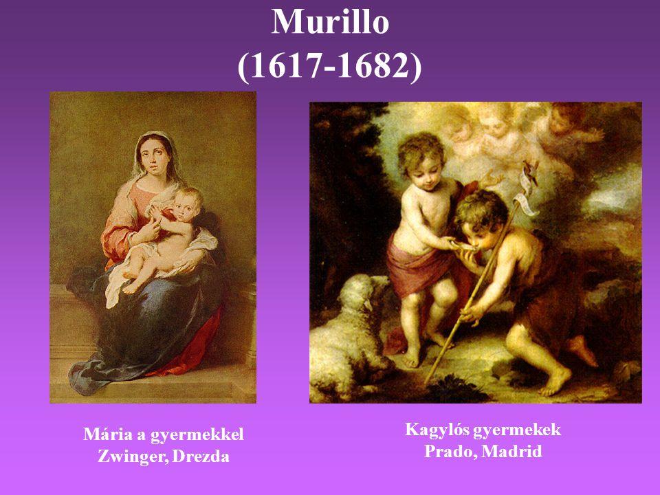 Murillo (1617-1682) Kagylós gyermekek Mária a gyermekkel Prado, Madrid