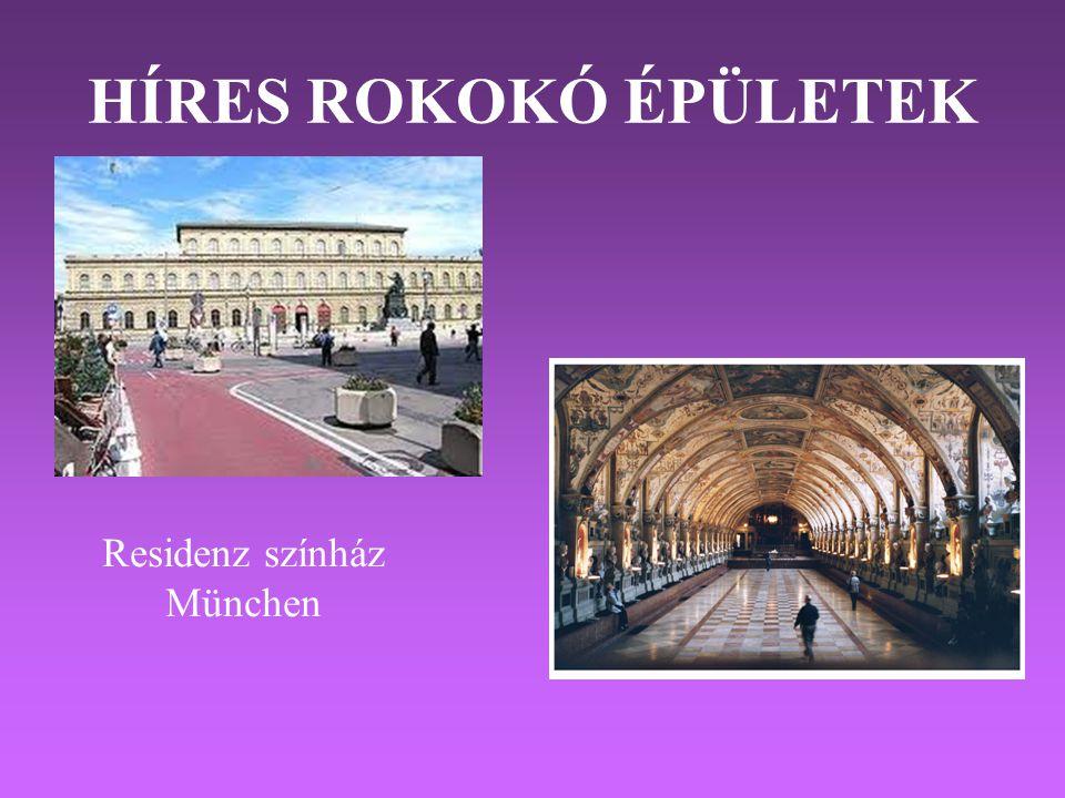 HÍRES ROKOKÓ ÉPÜLETEK Residenz színház München