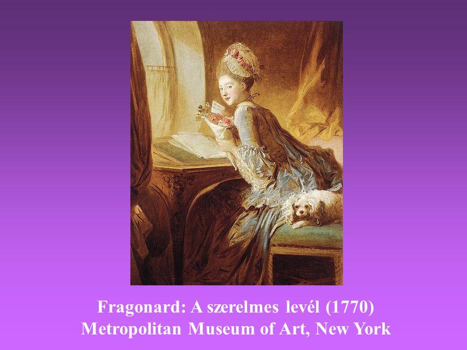 Fragonard: A szerelmes levél (1770)