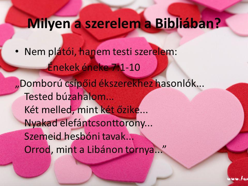 Milyen a szerelem a Bibliában