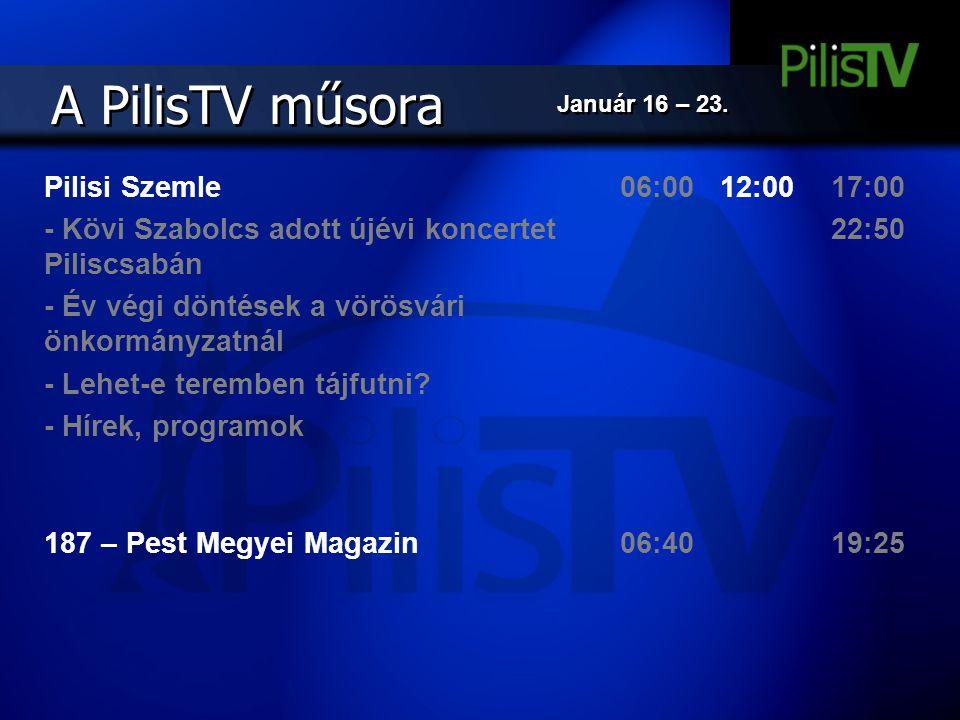 A PilisTV műsora Pilisi Szemle
