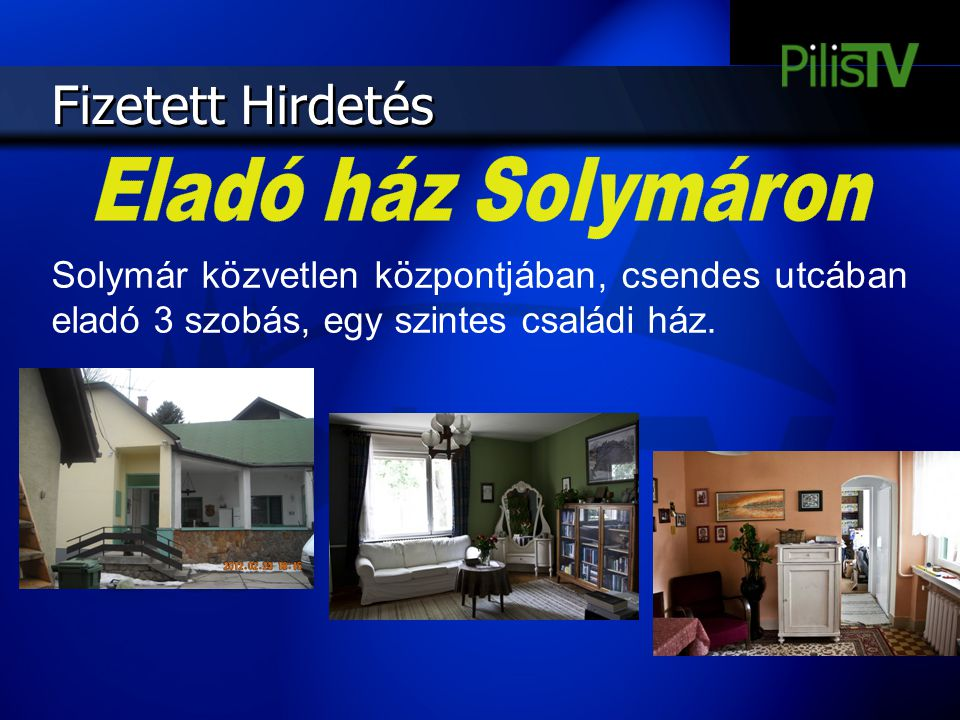 Fizetett Hirdetés Eladó ház Solymáron