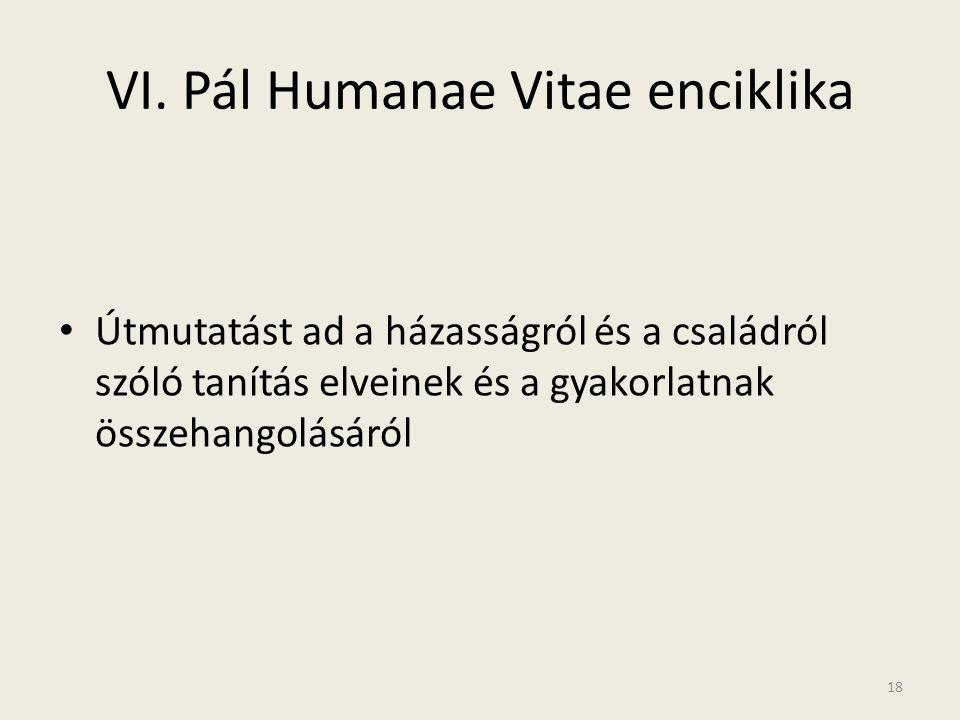 VI. Pál Humanae Vitae enciklika