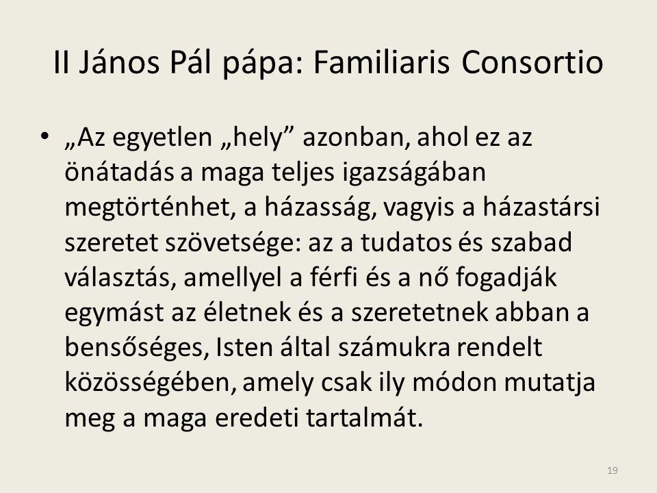 II János Pál pápa: Familiaris Consortio