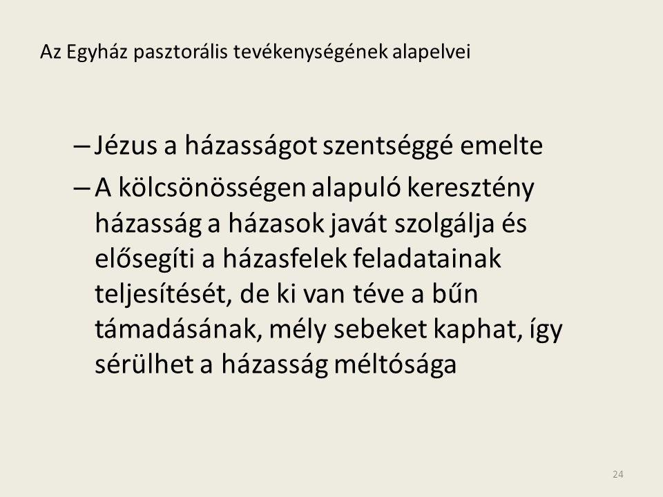 Az Egyház pasztorális tevékenységének alapelvei