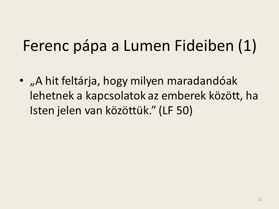 Ferenc pápa a Lumen Fideiben (1)