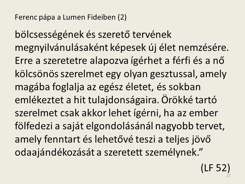 Ferenc pápa a Lumen Fideiben (2)