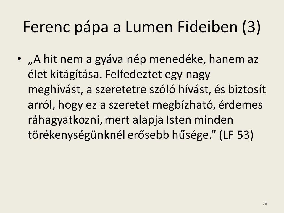 Ferenc pápa a Lumen Fideiben (3)