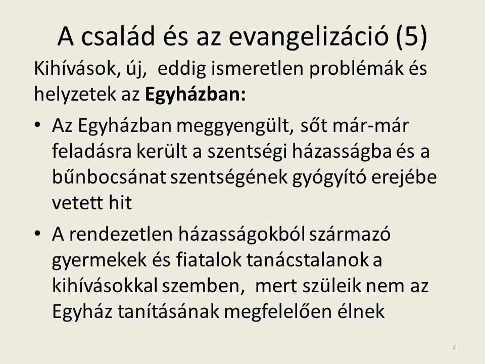 A család és az evangelizáció (5)
