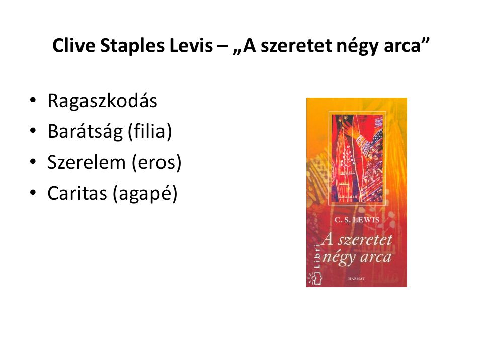 """Clive Staples Levis – """"A szeretet négy arca"""
