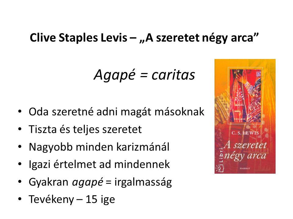 "Clive Staples Levis – ""A szeretet négy arca Agapé = caritas"