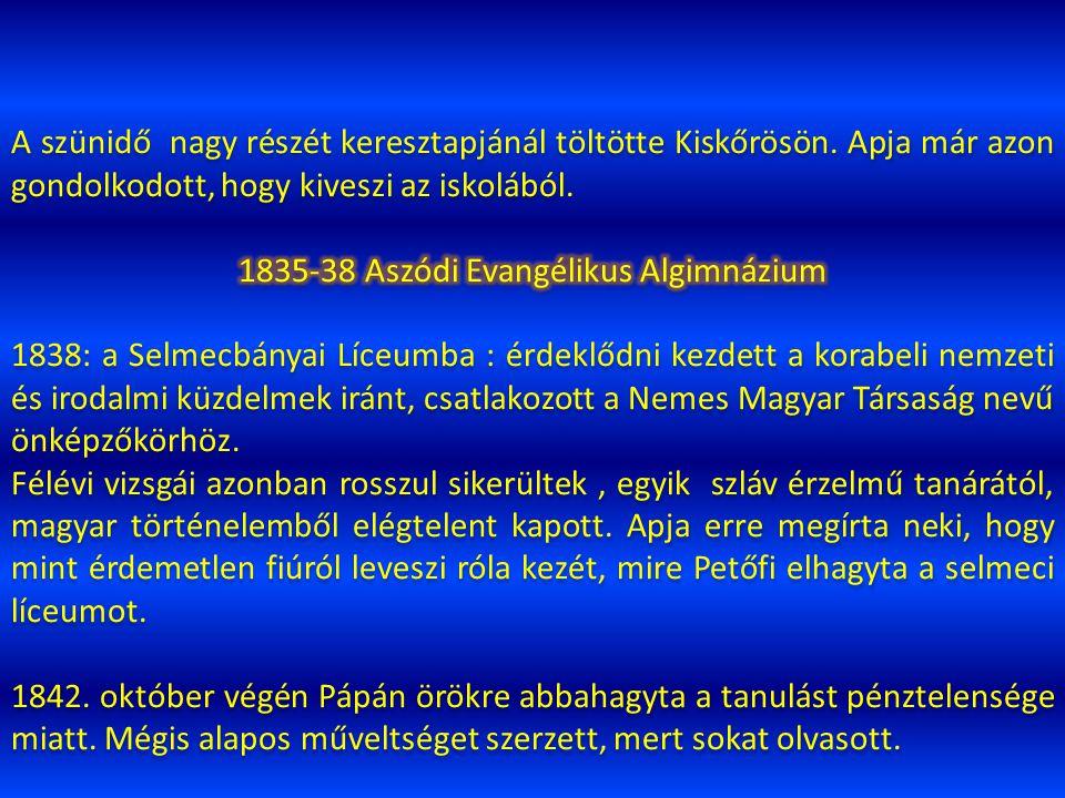1835-38 Aszódi Evangélikus Algimnázium