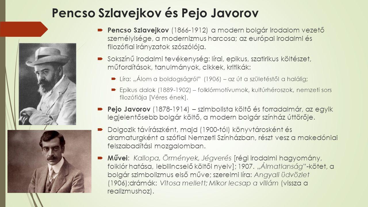 Pencso Szlavejkov és Pejo Javorov