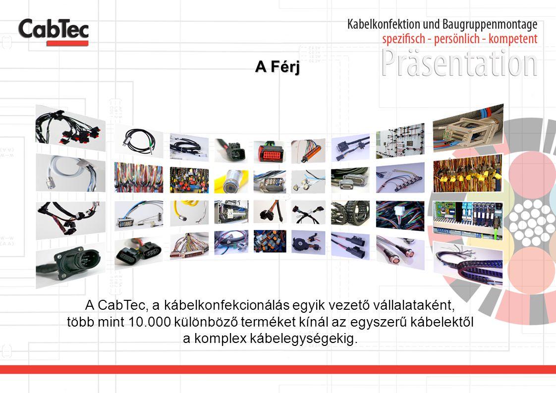 A Férj A CabTec, a kábelkonfekcionálás egyik vezető vállalataként,