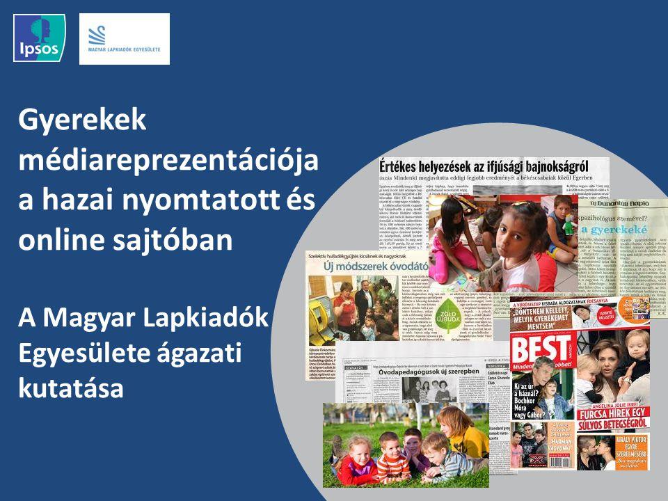 Gyerekek médiareprezentációja a hazai nyomtatott és online sajtóban