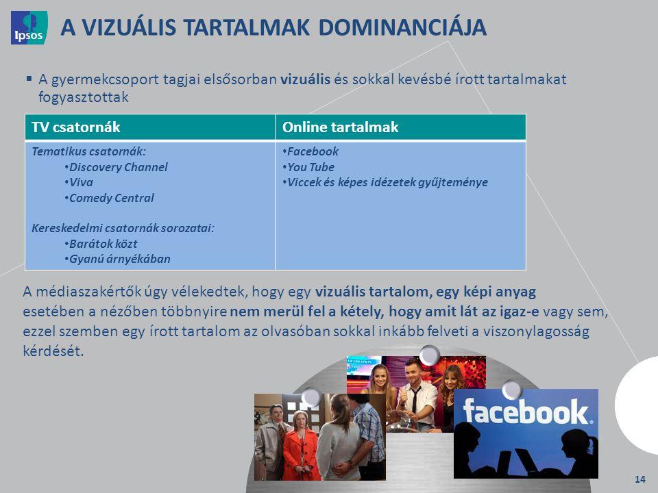 A VIZUÁLIS TARTALMAK DOMINANCIÁJA
