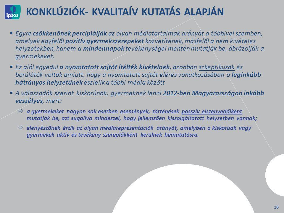 KONKLÚZIÓK- KVALITAÍV KUTATÁS ALAPJÁN