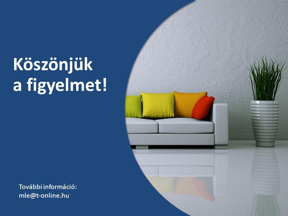 Köszönjük a figyelmet! További információ: mle@t-online.hu