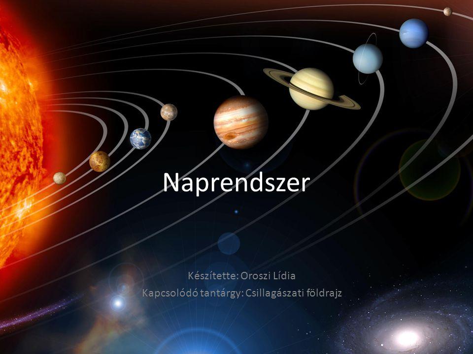 Készítette: Oroszi Lídia Kapcsolódó tantárgy: Csillagászati földrajz