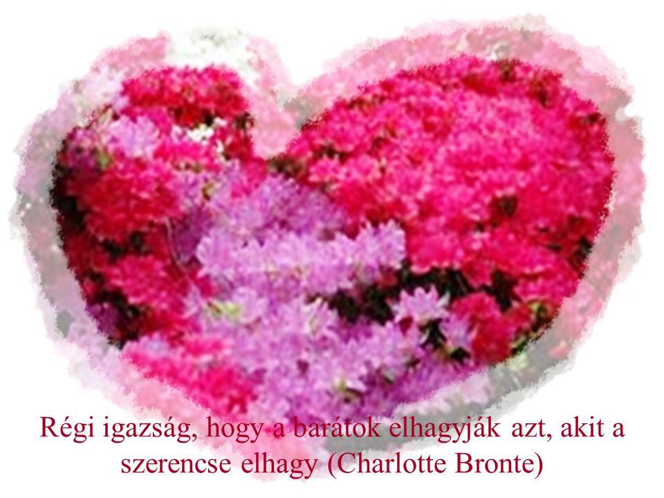 Régi igazság, hogy a barátok elhagyják azt, akit a szerencse elhagy (Charlotte Bronte)
