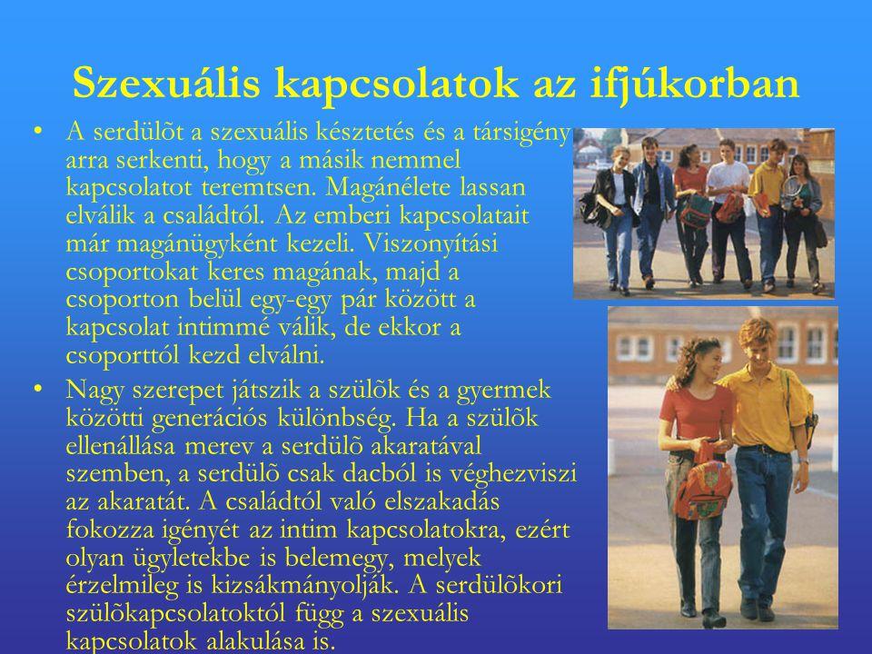 Szexuális kapcsolatok az ifjúkorban