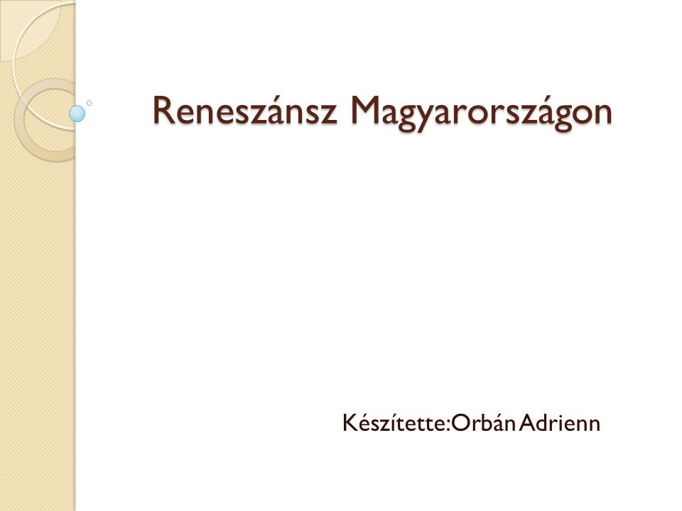Reneszánsz Magyarországon