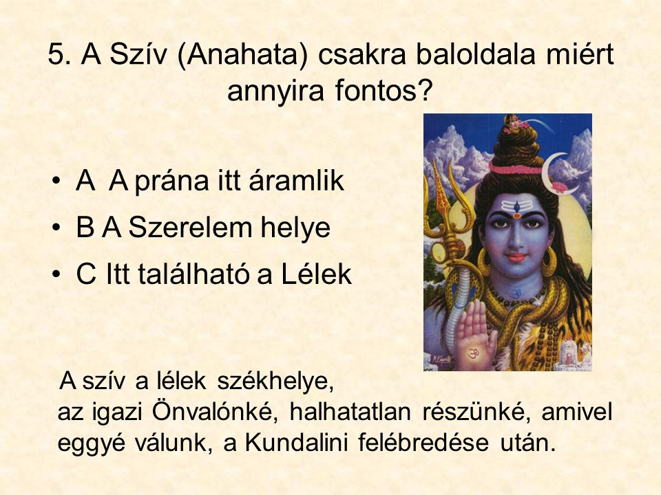 5. A Szív (Anahata) csakra baloldala miért annyira fontos