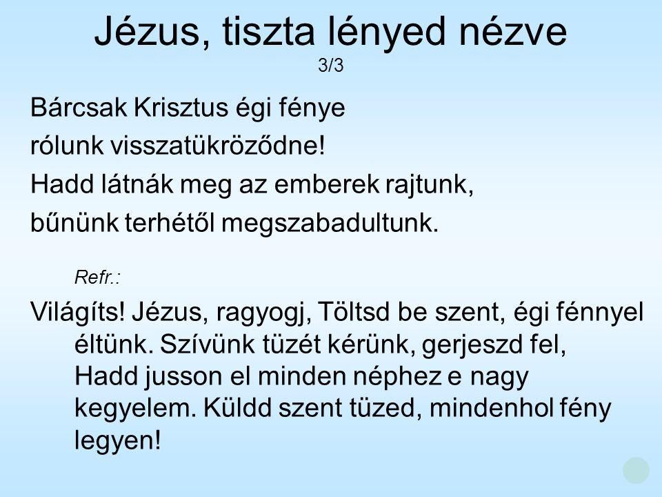 Jézus, tiszta lényed nézve 3/3