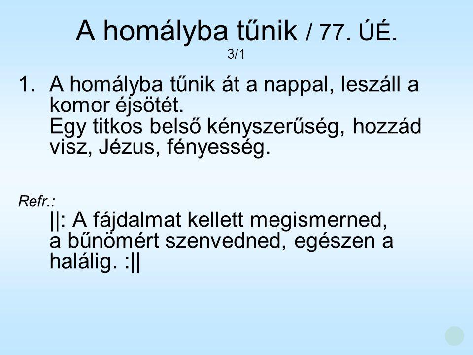 A homályba tűnik / 77. ÚÉ. 3/1.
