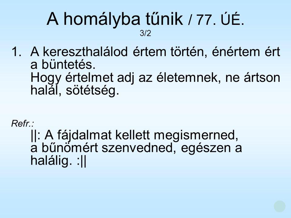 A homályba tűnik / 77. ÚÉ. 3/2.