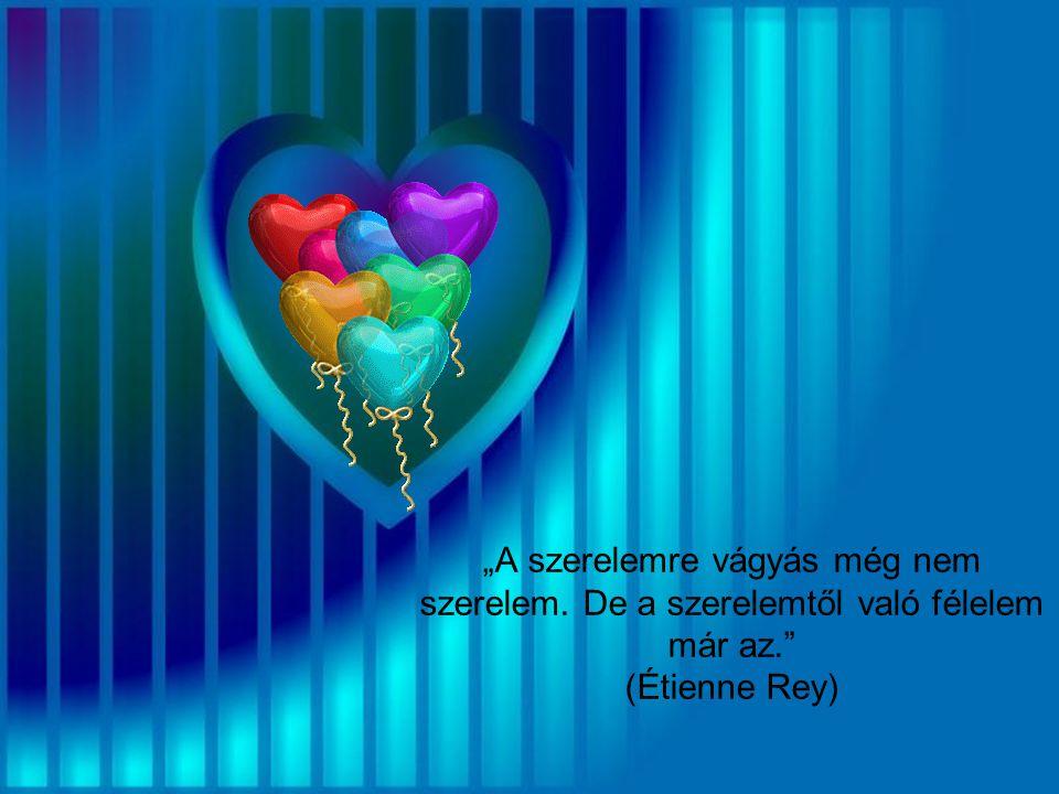 """""""A szerelemre vágyás még nem szerelem"""