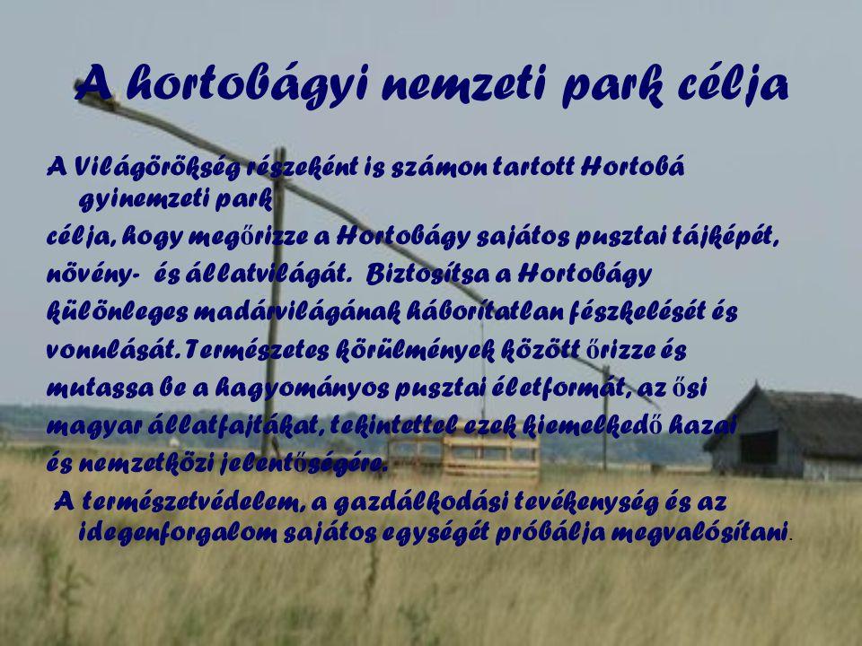 A hortobágyi nemzeti park célja