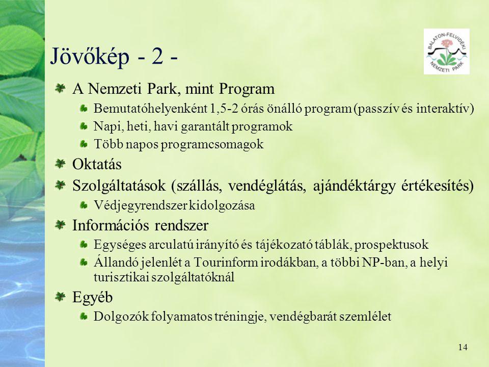 Jövőkép - 2 - A Nemzeti Park, mint Program Oktatás
