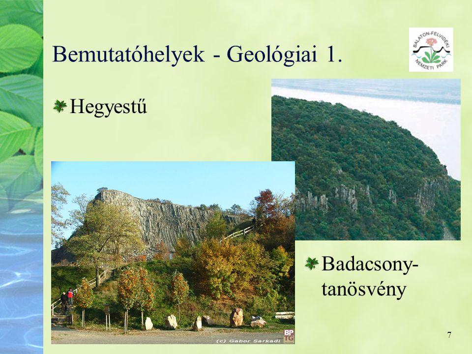 Bemutatóhelyek - Geológiai 1.