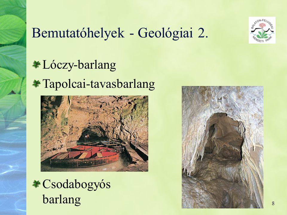 Bemutatóhelyek - Geológiai 2.